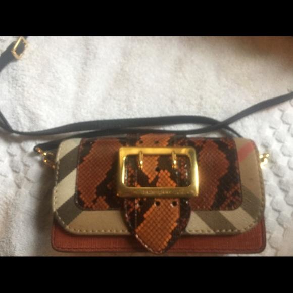 a52053f3cd71 Burberry patchwork snakeskin crossbody bag